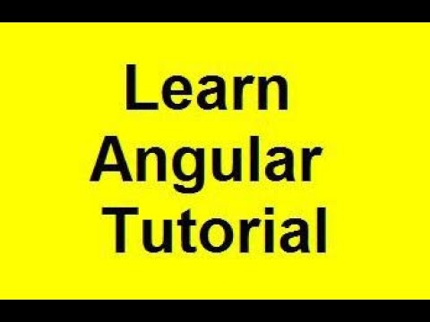 Learn Angular 1 tutorial - Lab 1 & 2 thumbnail