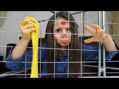 Lina'nın Okul Çantasından Ne Çıkarsa Slime Challenge | Tuzağa Düştüm