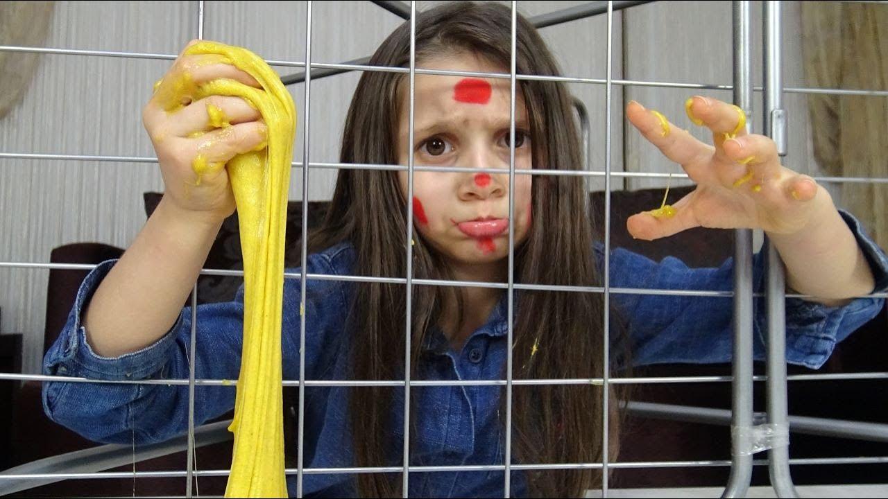 Lina'nın Okul Çantasından Ne Çıkarsa Slime Challenge   Tuzağa Düştüm