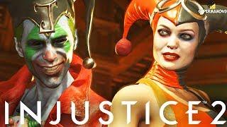 """EPIC JOKER VS EPIC HARLEY QUINN! - Injustice 2 """"The Joker"""" """"Batman"""" Gameplay"""