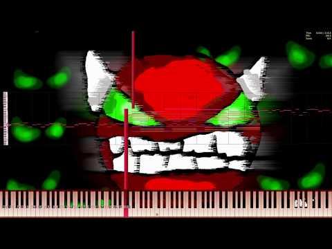Geometry Dash/Dimrain47 - At The Speed Of Light | Impossible Piano Remix | Black MIDI ~ MusiMasta