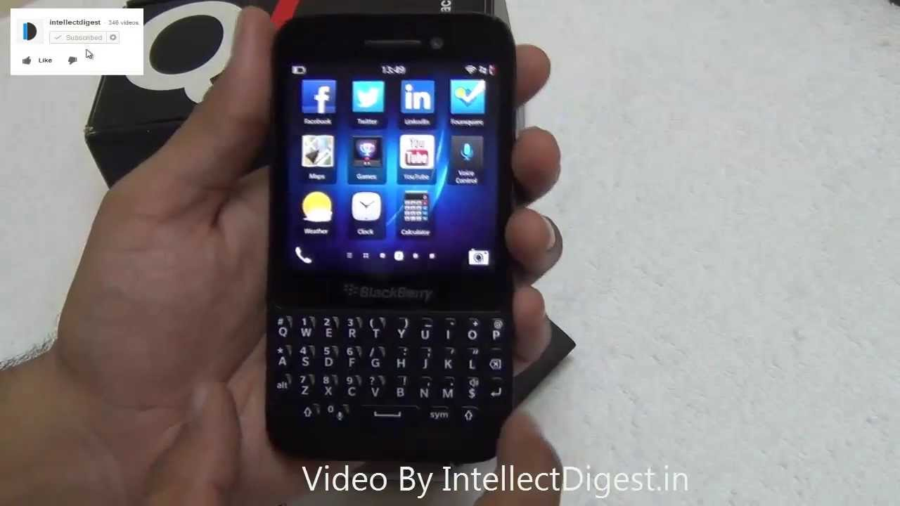 Blackberry Q5 QWERTY Phone With BB 10 OS Hands On Review