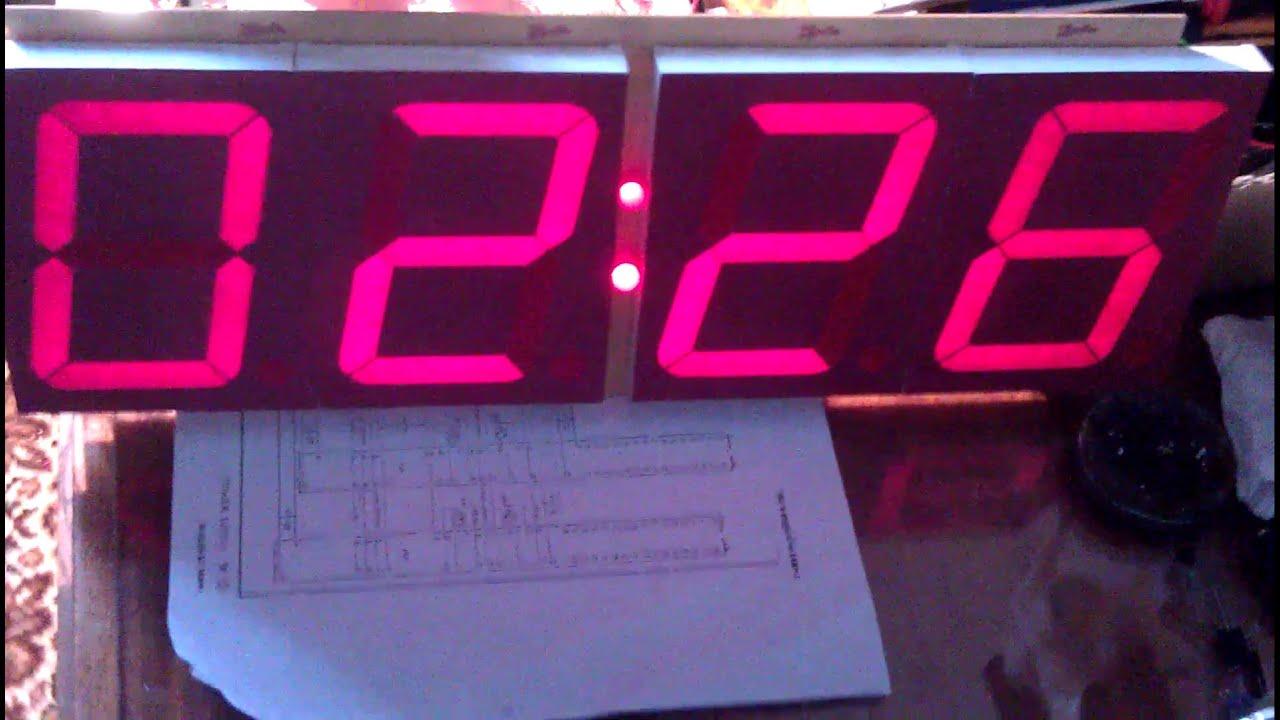 Big 7 Segment Clock With Atmega8 Youtube