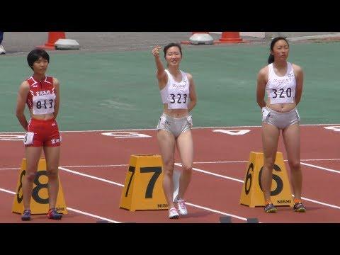 群馬県高校総体陸上 女子100mH  決勝 20190519