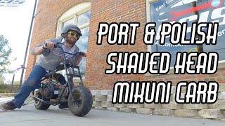 Drag Mini Bike Head Work & Performance Carb