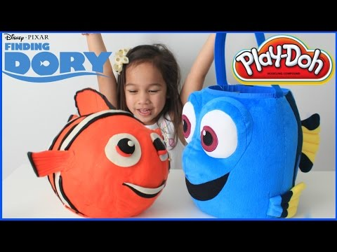 FINDING DORY Giant Play Doh Egg Surprise Shopkins Disney Car Toy Kinder Surprise Toys Video For Kids