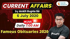 7:00 AM - Daily Current Affairs | Current Affairs 2020 by Ankit Gupta Sir | 6 July 2020