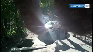 Иваново извлечение провалившейся под асфальт машины