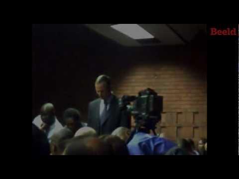 Oscar Pistorius in die hof