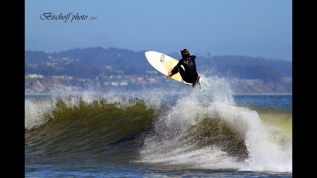 a8864357b3 Surfing Santa Cruz -- Capi Kids! Great surf in Capitola - YouTube