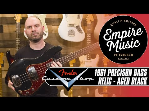 Fender Custom Shop 1961 Precision Bass Relic Aged Black  EMPIRE MUSIC