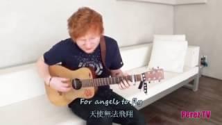 Ed Sheeran - The A Team  [live] (lyrics中文翻譯)