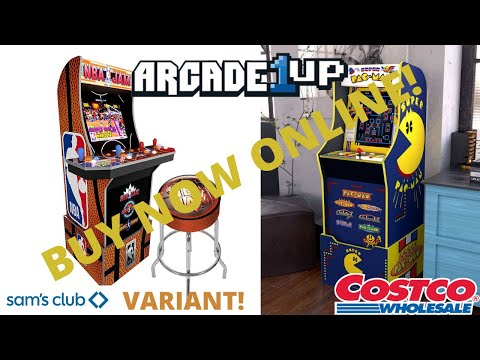 New Arcade1up: NBA Jam Sam's Club Variant and Super Pac-man Online for Purchase! from PsykoGamer