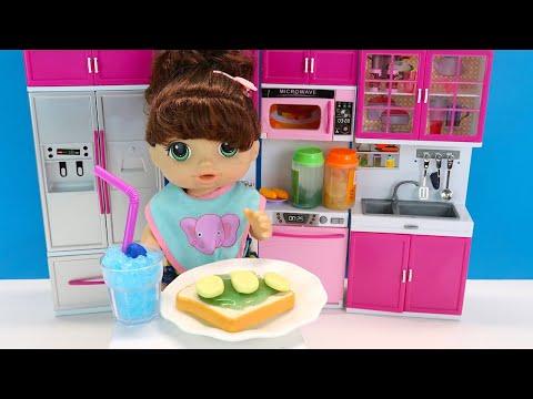 Как Мама Готовила Завтрак на Кухне Мультики для детей Куклы Пупсики 108мама тв