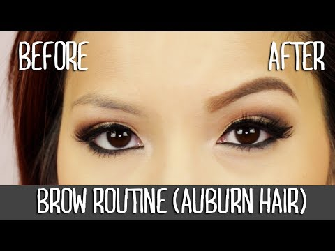 My Brow Routine For Auburn Hair Anastasia Dipbrow Pomade