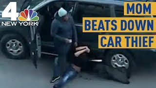Mom Beats Down Car Thief, Says 'He Got a Whoopin'' | News 4 New York
