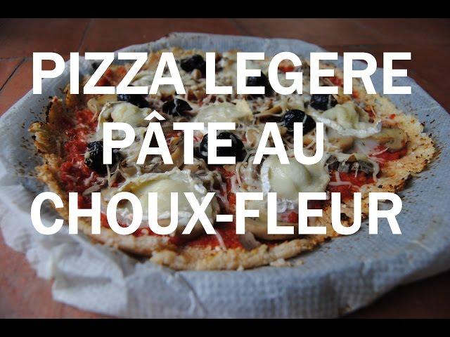 Pizza sans gluten : pâte au choux-fleur