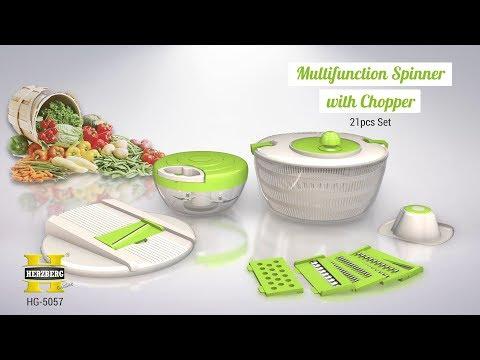 Multifunction Spinner With Chopper Herzberg Hg 5057 Youtube