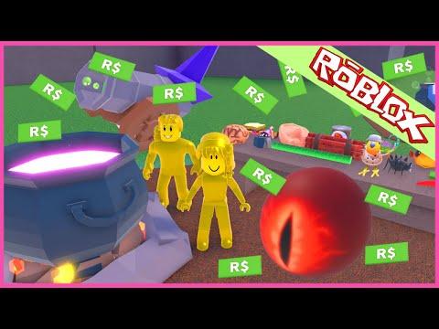Roblox สูตรหม้อปรุงยาแม่มดแปลงร่างรวยทองโรบัค roblox Wacky Wizards BOSS
