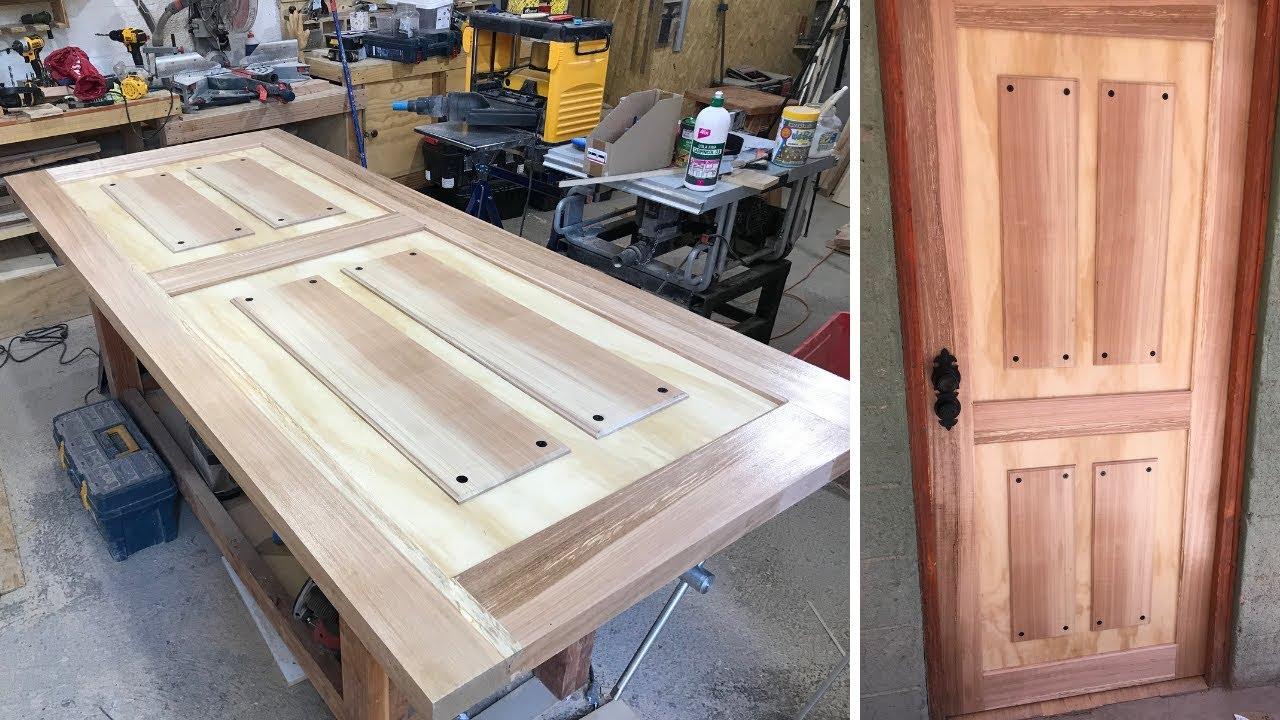 como hacer una puerta de madera para exterior youtube