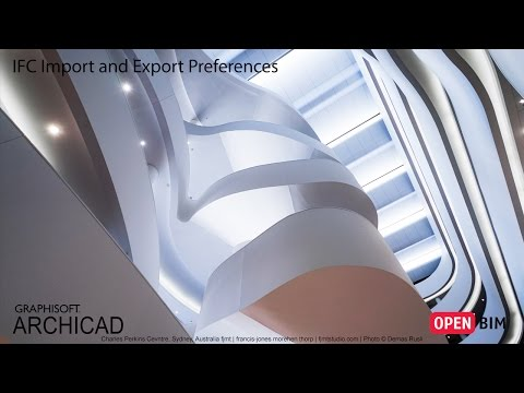 ARCHICAD 21 - IFC Import and Export Preferences