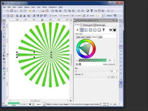 Sunrays in Inkscape