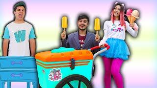 MALOUCOS FINGE BRINCAR DE VENDER SORVETE 5  Maloucos Pretend Play Selling Ice Cream
