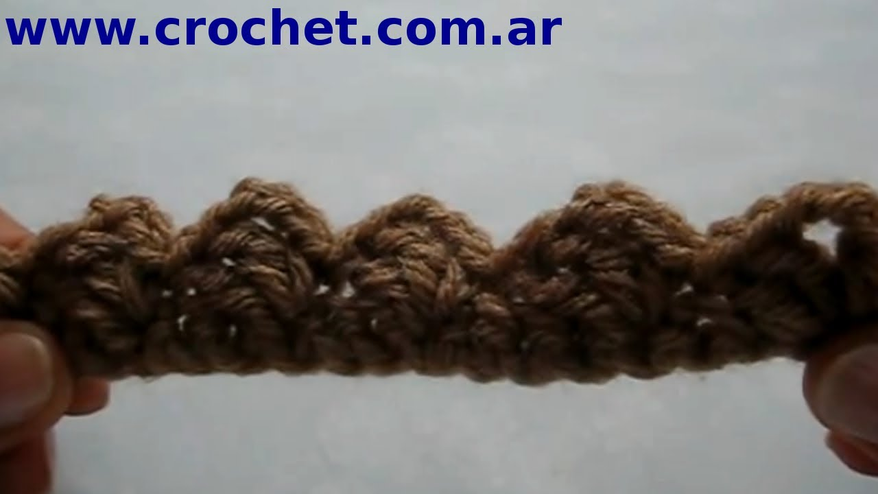 Puntilla n 2 en tejido crochet tutorial paso a paso for Remates a ganchillo