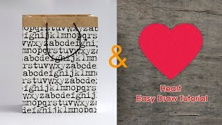 Gift for boyfriend | Heart easy draw tutorial