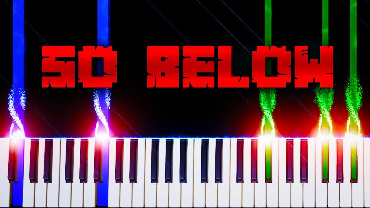 So Below (from Minecraft) - Piano Tutorial
