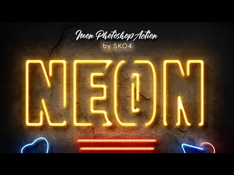 Neon Photoshop Action [How To Use]