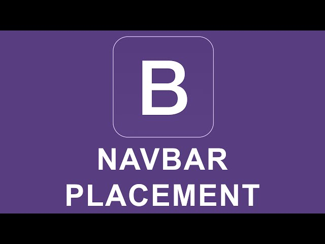Bootstrap 4 Tutorial 38 - Navbar Placement