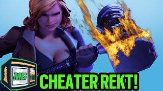 Cheater Gets The BANHAMMER!! - Fortnite Battle Royale