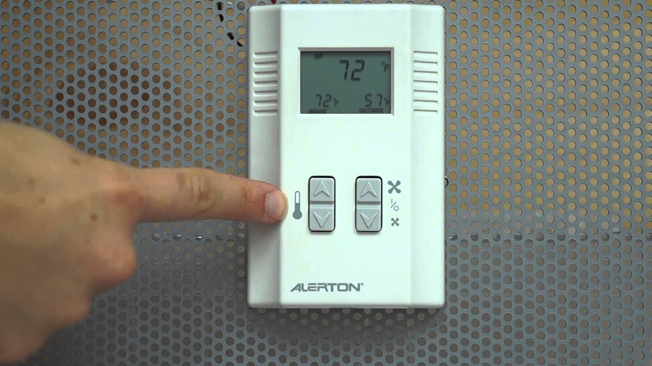 Alerton Thermostat Operation Youtube