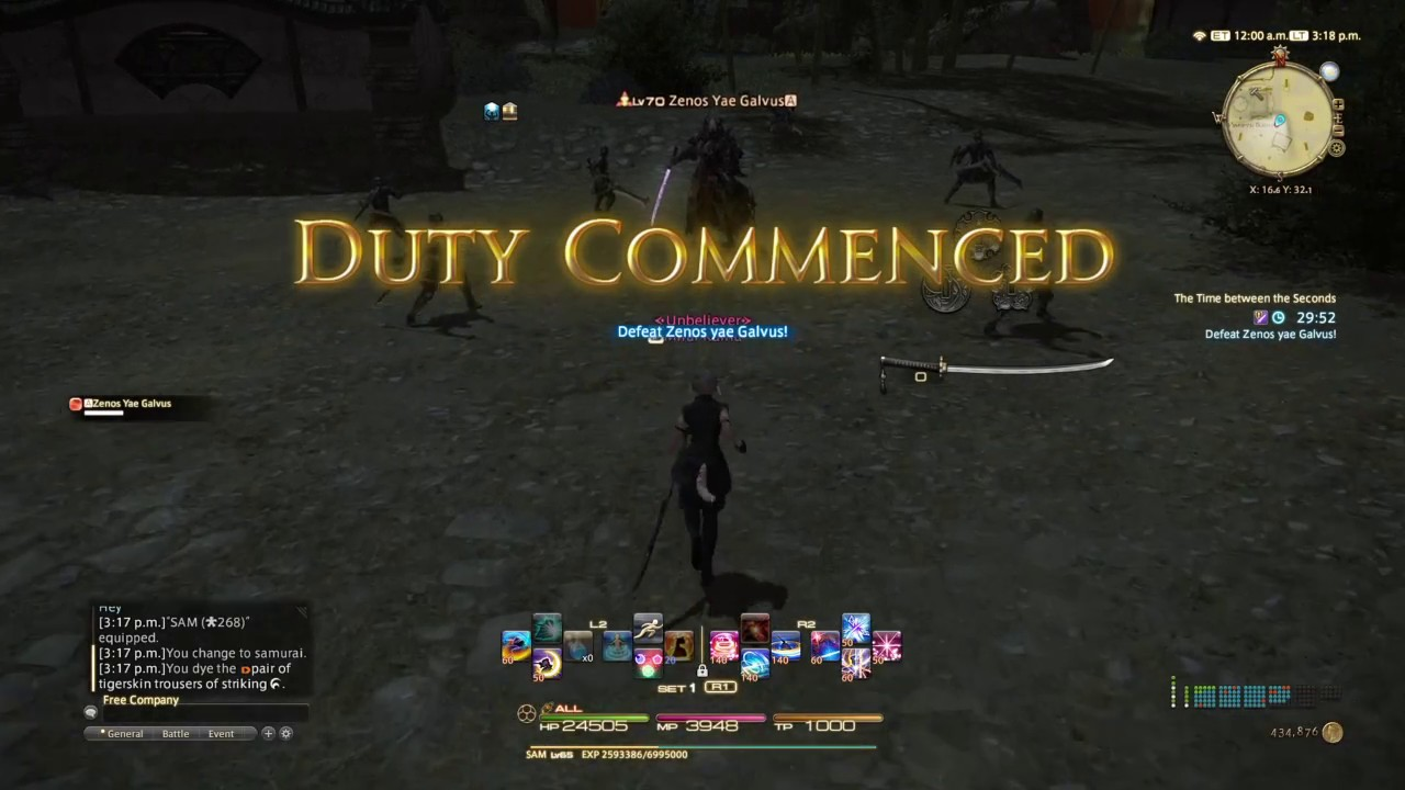 FINAL FANTASY XIV: Stormblood - `Time Between the Seconds` |How to Defeat  Zenos  |Minor Spoilers| by emaura