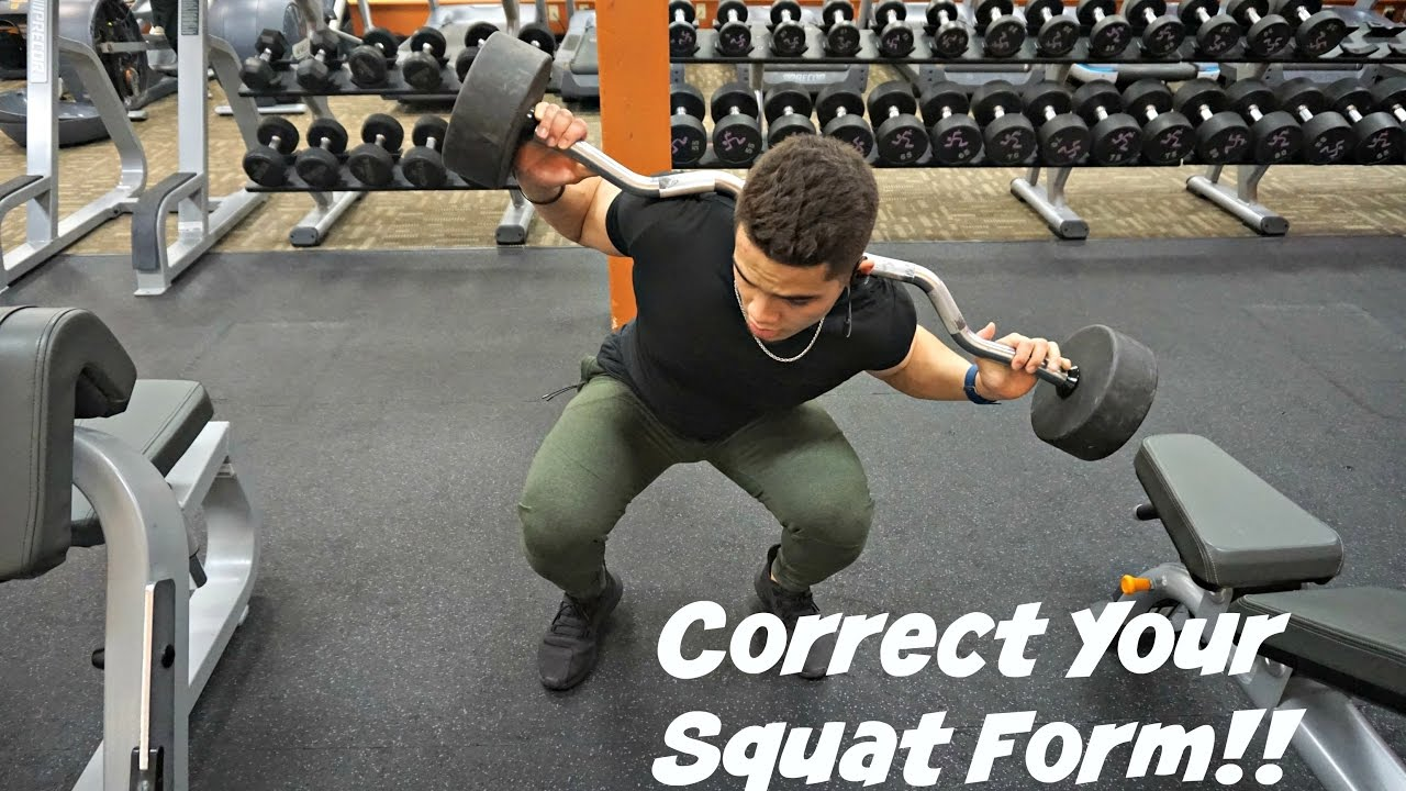 How To Correct Improper Squat Form! - YouTube