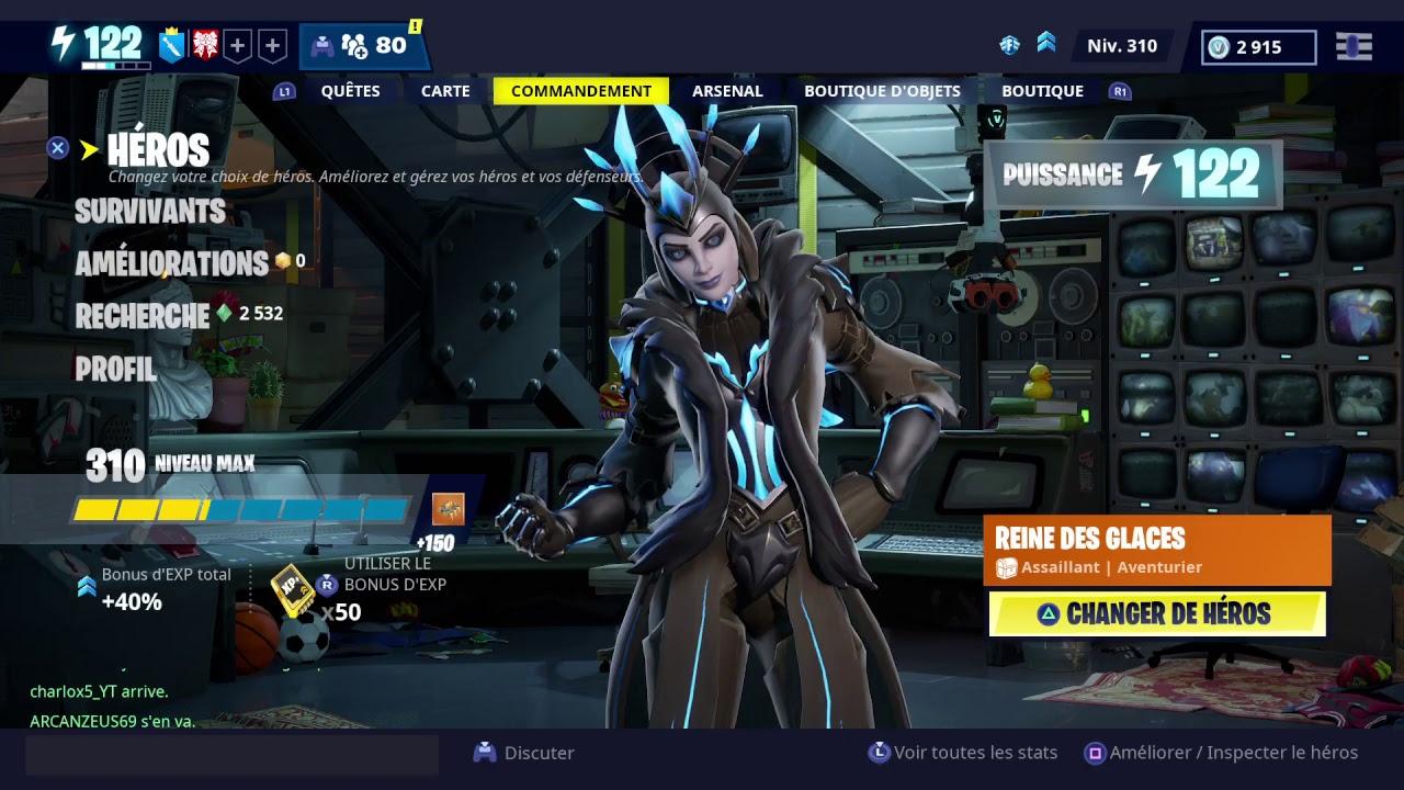 Live fortnite sauver le monde gameplay avec la reine et le roi des glace part2 youtube - La reine des glace streaming ...