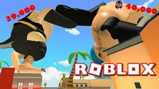 ROBLOX EATING SIMULATOR - FATTEST PLAYERS FIGHT!! (40000 FAT POWER)