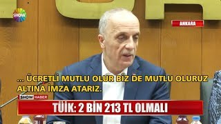 """TÜİk: """"asgari Ücret 2 Bin 213 Tl Olmalı"""""""