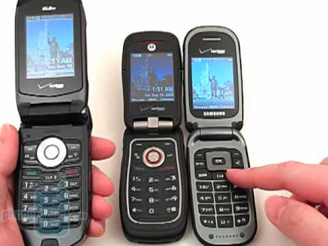 Casio G'zOne Rock, Motorola Barrage and Samsung Convoy: Side by Side