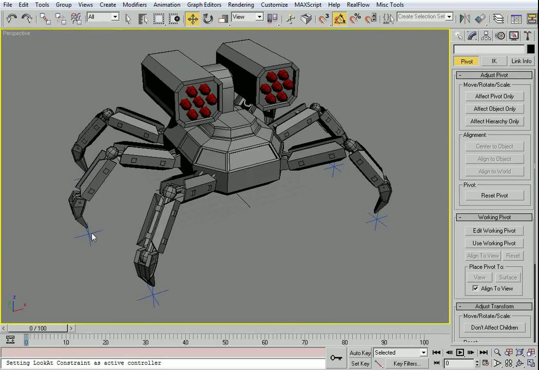 3ds Max Simple Robot Rig - YouTube