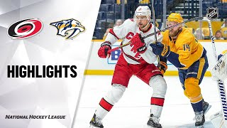 NHL Highlights | Hurricanes @ Predators 1/18/21