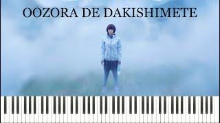 Utada Hikaru Oozora De Dakishimete Piano Tutorial Sheets