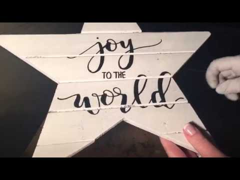 DIY Hand Painted Rustic Wood Sign Tutorial