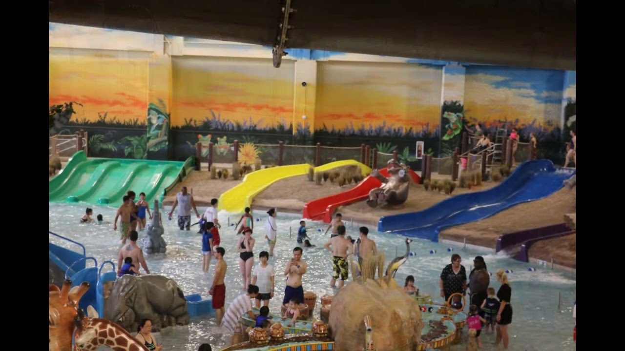 tour of kalahari resorts water park & water slides poconos, pa - youtube