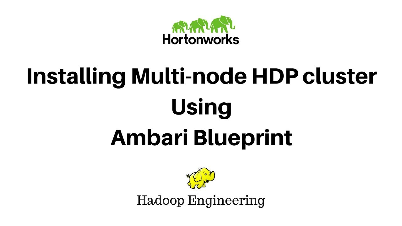 Install multi node hadoop cluster using ambari blueprint youtube install multi node hadoop cluster using ambari blueprint malvernweather Gallery