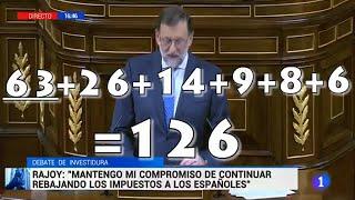 La surrealista suma de Rajoy en el debate de investidura