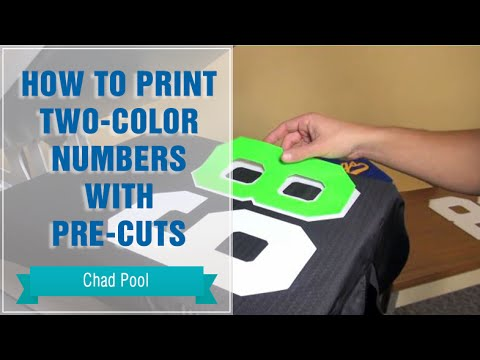 How to Heat Press Two-Color Numbers Fast with Pre-Cuts