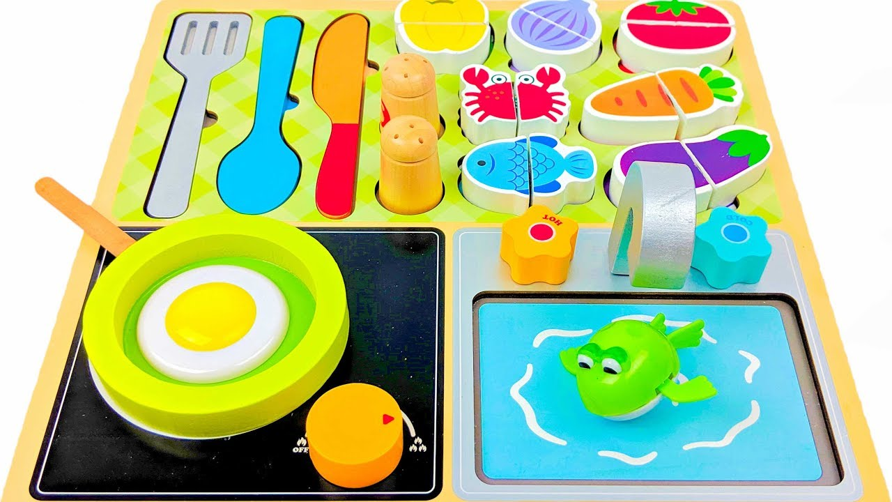 Funnest Toys Kids Cooking Show Learn Food Names and Colors with Surprise  Windup Toys