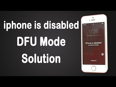 Iphone is disabled connect to itunes DFU mode official firmware